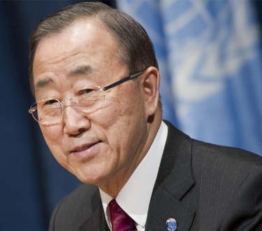 UN Secretary General Ban Ki-moon impersonates 'Rocky' in new video