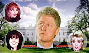 "Bill Clinton's Ex-Gals Talk About His ""Private Parts"" In Pay-Per-View Video On Internet"