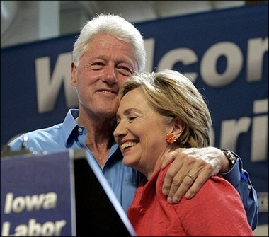Bill and Hillary Clinton's 'mutual admiration society'!
