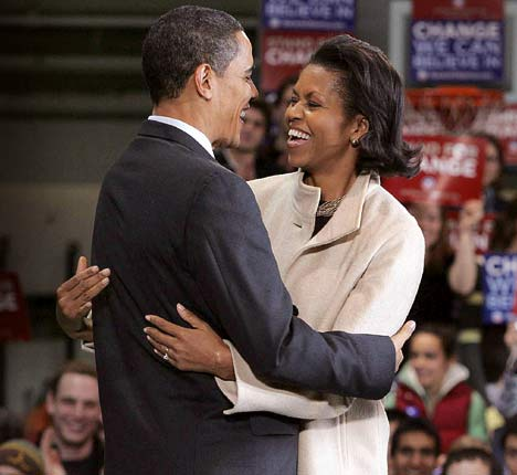 barack and michelle obama pictures. Michelle Obama, Barack Obama
