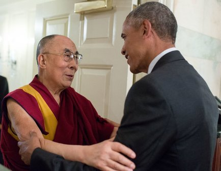 Obama meets Dalai Lama