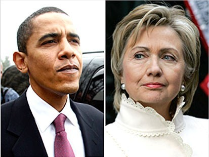 US Election, Hillary Clinton and Barack Obama