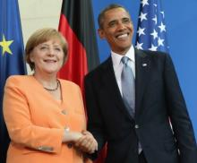 Obama, Merkel 's push for Trans-Atlantic trade deal in Germany