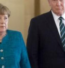 Trump jokes both he and Angela Merkel were wiretapped by Obama