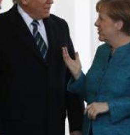 Trump-Merkel display their testy relationship for world to see